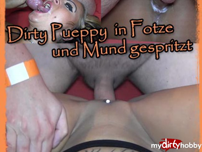 Dirty Püppy sprayed in pussy and mouth