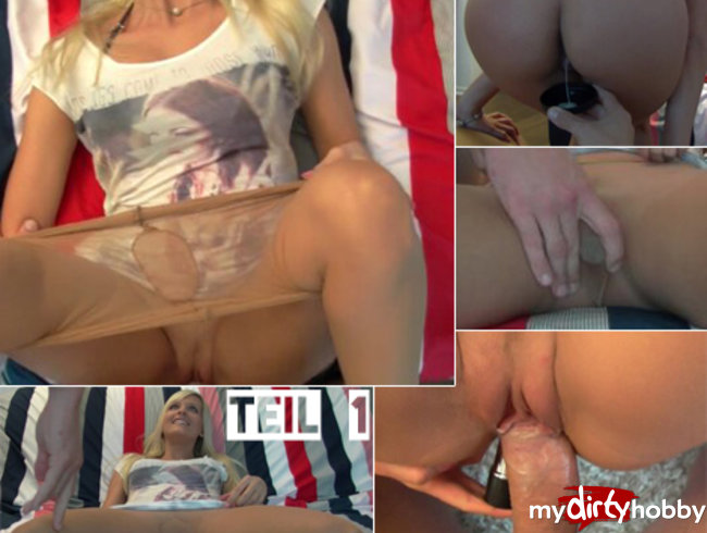 Creampie Jizz games and both holes used simultaneously!