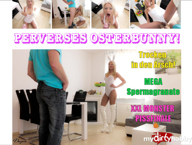 Perverse Easter Bunny Arschgefickt + Pissed!