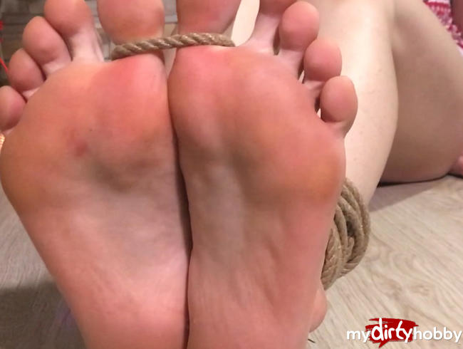 X-mas tied toe Foot Fetish